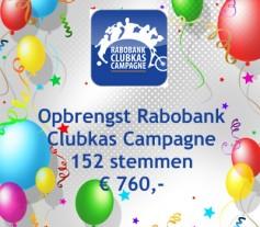 Opbrengst Rabobank Clubkas Campagne