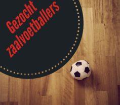 gezocht zaalvoetballers